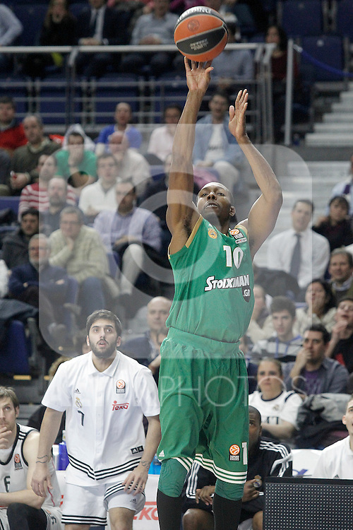Panathinaikos Athens' DeMarcus Nelson during Euroleague match.January 22,2015. (ALTERPHOTOS/Acero)