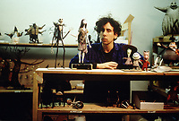 The Nightmare Before Christmas (1993)<br /> Behind the scenes photo of Tim Burton<br /> *Filmstill - Editorial Use Only*<br /> CAP/KFS<br /> Image supplied by Capital Pictures