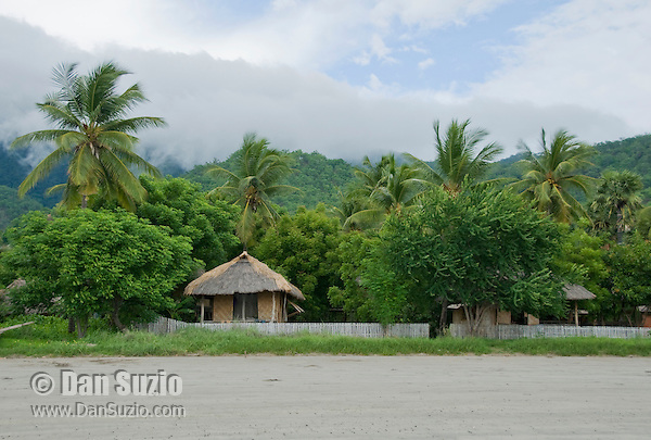 Tua Koin resort, a small lodge on the beach near Vila on Atauro Island, Timor-Leste (East Timor)
