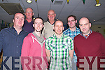 DINNER: Workmate and friends out for dinner at the Kingdom Greyhound Stadium,Tralee on Friday night Fro nt l-r: Denis Tobin (Tralee), Trevor Farmer (Tralee), Sean Murphy (Killorglin) and Eddie Duggan (Tralee). Back l-r: Pat Riordan (Glenbeigh), Martin Tigue (Tralee)  and William Hussey (Causeway)