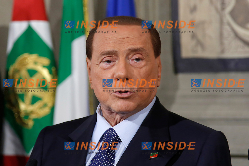 Silvio Berlusconi<br /> Roma 10-12-2016. Quirinale. Consultazioni <br /> Rome December 10th 2016. Quirinale. Consultation with the President of the Republic for a new Government<br /> Foto Samantha Zucchi Insidefoto