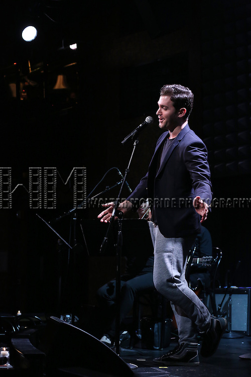 Constantine Germanacos in rehearsal for 'The Lord & The Master - Broadwayworld.com sings Andrew Lloyd Webber & Stephen Sondheim'  at Joe's Pub on June 16, 2014 in New York City.