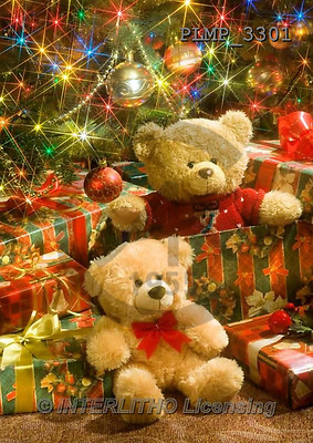 Marek, CHRISTMAS ANIMALS, WEIHNACHTEN TIERE, NAVIDAD ANIMALES, teddies, photos+++++,PLMP3301,#Xa# under Christmas tree,