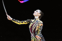 September 22, 2011; Montpellier, France;  ALEXANDRA PISCUPESCU of Romania performs with ribbon at 2011 World Championships.
