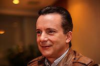 SAO PAULO, 25 DE JULHO DE 2012. CAMPANHA CELSO RUSSOMANO. O candidato a prefeitura Celso Russomano durante visita a  Abrasce (Associação Brasileira de Shopping Centers). FOTO: ADRIANA SPACA: BRAZIL PHOTO PRESS