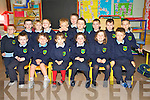 Junior infants at Castlemaine National School Donnacha Boyne, Casey O'Shea, Sharon O'Dowd, Emma Gore, Aimee Kelliher, Ryan Looney, Daniel Lynch, PJ Hussey, Liam Lenihan, Kalum Dow, Adam Spring, Timothy Flynn, Ryan Dwyer, Cathal Hickey, Padraic Bonner and Maciej Tomczyk pictured at the school on Tuesday.............................................................................................................