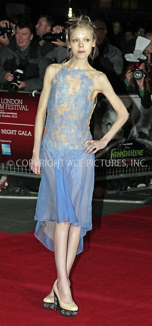 WWW.ACEPIXS.COM....US Sales Only....October 10 2012, London....Antonia Campbell-Hughes at the premiere of Frankenweenie 56th BFI London Film Festival on October 10 2012 in London ....By Line: Famous/ACE Pictures......ACE Pictures, Inc...tel: 646 769 0430..Email: info@acepixs.com..www.acepixs.com