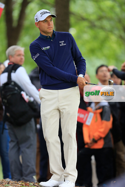 Bill Haas (USA) on the 8th during round 3 of the WGC-HSBC Champions, Sheshan International GC, Shanghai, China PR.  29/10/2016<br /> Picture: Golffile | Fran Caffrey<br /> <br /> <br /> All photo usage must carry mandatory copyright credit (&copy; Golffile | Fran Caffrey)