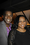 Opening Night with Norm Lewis (All My Children) will star in Phantom of the Opera as the first black Phantom and poses with his sister Sheila on May 12 on Broadway at the Majestic Theatre, New York City, New York  (Photo by Sue Coflin/Max Photos)