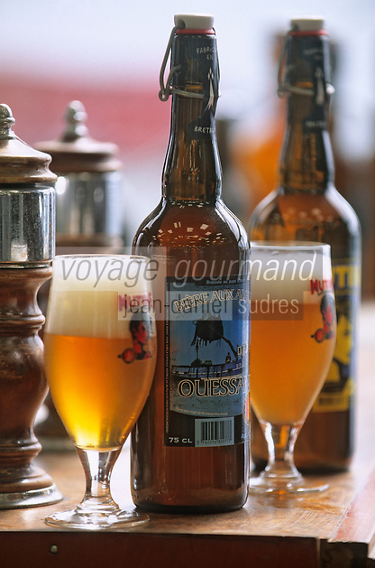 Europe/France/Bretagne/29/Finistère/Ploudalmézeau: Brasserie des Abers - Bière Mutine - Bière aux Algues Ouessane- Daniel Adam brasseur