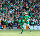 June 11th 2017, Dublin, Republic Ireland; 2018 World Cup qualifier, Republic of Ireland versus Austria;  Robbie Brady of Ireland comes out onto the pitch