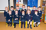 Barraduff National School junior infants first day at school. Pictured Front L-R Lillian McCarthy, Sophie Kate McCarthy Cronin, Maria Estera, Ciara Murphy, Caoimhe Nilionaird, Back L-R Szymon Pajak, Mark McCluskey, Senan Murphy, Patrick O'Donoghue, Marek Pajak, Darragh O'Riordan and Ryan O'Donoghue.