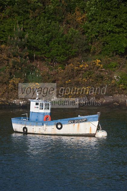 Europe/France/Bretagne/56/Morbihan/ Golfe du Morbihan: Vieux bateau de pêche