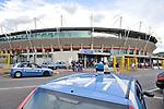 Polizia davanti allo stadio olimpico
