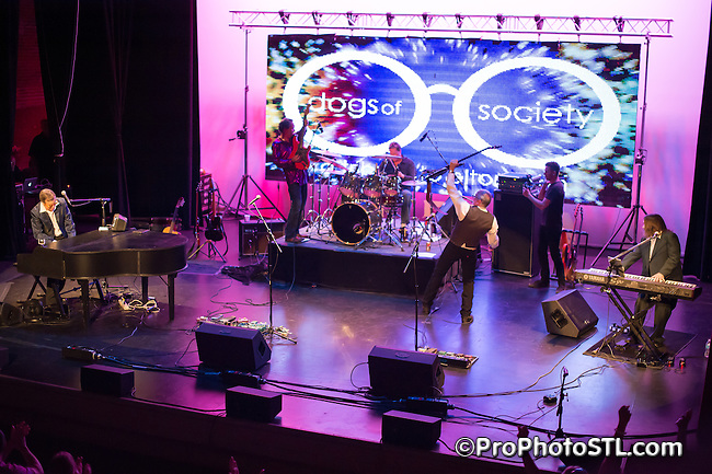 A Tribute to Elton John concert presented by Dogs of Society band at The Wildey Theatre in Edwardsville, IL on May 24, 2014.