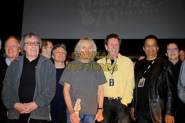 LONDON, ENGLAND - March 1: Bill Wyman, Albert Lee, Joe Brown and Gary US Bonds at the Albert Lee 70th Birthday Celebration concert at Cadogan Hall on March 1, 2014 in London, England<br /> CAP/MAR<br /> &copy; Martin Harris/Capital Pictures