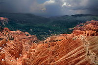 732700004 a clearing summer storm over sunset vista still partially covered in snow highlights the red rock country and vast forests the area is noted for in cedar breaks national monument utah