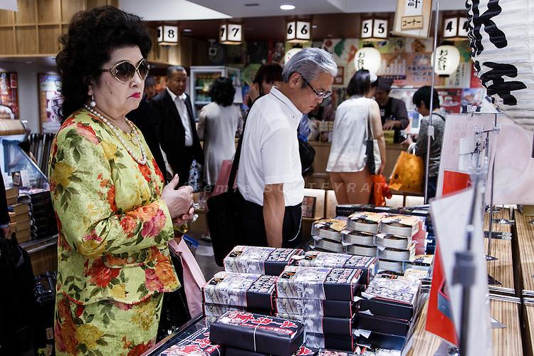 Tokyo, September 13 2013 - Bentoya matsuri, ekiben shop, at Tokyo station.