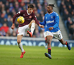 01.12.2019 Rangers v Hearts: Aaron Hickey and Joe Aribo