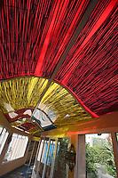 Afrique/Afrique du Nord/Maroc/Rabat: Hotel - Maison d'Hote Villa Mandarine détai décoration du plafond d'un couloir [Non destiné à un usage publicitaire - Not intended for an advertising use]