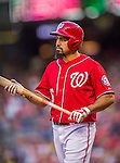 22 August 2015: Washington Nationals infielder Anthony Rendon steps up to bat against the Milwaukee Brewers at Nationals Park in Washington, DC. The Nationals defeated the Brewers 6-1 in the second game of their 3-game weekend series. Mandatory Credit: Ed Wolfstein Photo *** RAW (NEF) Image File Available ***
