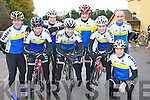 On their bikes for the Ava's charity cycle in Killorglin on Sunday were Pat O'Connor, Jerry McCarthy, John Dowd, Barry Murphy, Pat Sullivan, Matt Lacey, Mike Leahy and Michael Mannix, Tralee Manor West cycling club.............