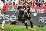 14.04.2018, BayArena, Leverkusen , GER, 1.FBL., Bayer 04 Leverkusen vs. Eintracht Frankfurt<br /> im Bild / picture shows: <br /> Julian Brandt (Leverkusen #10), <br /> Leon Bailey (Leverkusen #9), <br /> <br /> <br /> Foto &copy; nordphoto / Meuter