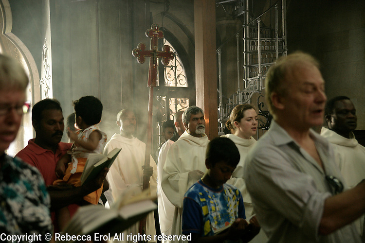Sunday service at the Crimean Church in Galata, Istanbul, Turkey