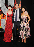 HOLLYWOOD, CA - MAY 26: (L-R) Actress Alexandra Daddario, director Brad Peyton and actress Carla Gugino arrive at the 'San Andreas' - Los Angeles Premiere at TCL Chinese Theatre IMAX on May 26, 2015 in Hollywood, California.