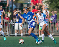 Boston, MA - Saturday August 19, 2017: Rosie White during a regular season National Women's Soccer League (NWSL) match between the Boston Breakers (blue) and the Orlando Pride (white/light blue) at Jordan Field. Orlando Pride defeated Boston Breakers, 2-1.