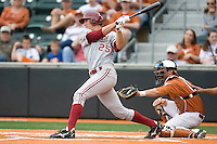 Stanford 3B Stephen Piscotty (25) swings against the Texas Longhorns on March 4th, 2011 at UFCU Disch-Falk Field in Austin, Texas.  (Photo by Andrew Woolley / Four Seam Images)