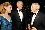 From left: Mikki Hebl, David Harvey and George Strake at the University of St. Thomas Court of Diamond Jubilee at the HIlton Americas Hotel Tuesday Feb. 16,2010. (Dave Rossman Photo)