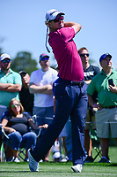 Justin Rose (GBR) watches his tee shot on 3 during round 1 of the Shell Houston Open, Golf Club of Houston, Houston, Texas, USA. 3/30/2017.<br /> Picture: Golffile | Ken Murray<br /> <br /> <br /> All photo usage must carry mandatory copyright credit (&copy; Golffile | Ken Murray)