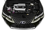 Car stock 2019 Lexus UX Privilege-Line 5 Door SUV engine high angle detail view