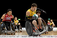 Andrew Edmondson (AUS)  vs Japan<br /> Australian Wheelchair Rugby Team<br /> 2018 IWRF WheelChair Rugby <br /> World Championship / Day 4<br /> Sydney  NSW Australia<br /> Wednesday 8th August 2018<br /> © Sport the library / Jeff Crow / APC