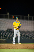AZL Athletics relief pitcher Chris Kohler (21) prepares to deliver a pitch during a game against the AZL Giants on August 5, 2017 at Scottsdale Stadium in Scottsdale, Arizona. AZL Athletics defeated the AZL Giants 2-1. (Zachary Lucy/Four Seam Images)