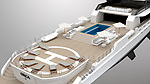 A luxury super-yacht has been designed to blend in with its natural environment - by looking like a giant killer whale.  The 215 ft vessel boasts a black and white colour scheme and a radar mast designed to look like a dorsal fin as well as the ability to sail in the Arctic and Antarctic oceans.<br /> <br /> The multi million pound 'Project Orca' boat even has a killer whale's distinctive white patch on its side, which lights up at night.  The four deck vessel also boasts a gym, pool, spa zone, bar, and even its own helipad.  SEE OUR COPY FOR DETAILS.<br /> <br /> Please byline: Rosetti Superyachts/Solent News<br /> <br /> © Rosetti Superyachts/Solent News & Photo Agency<br /> UK +44 (0) 2380 458800