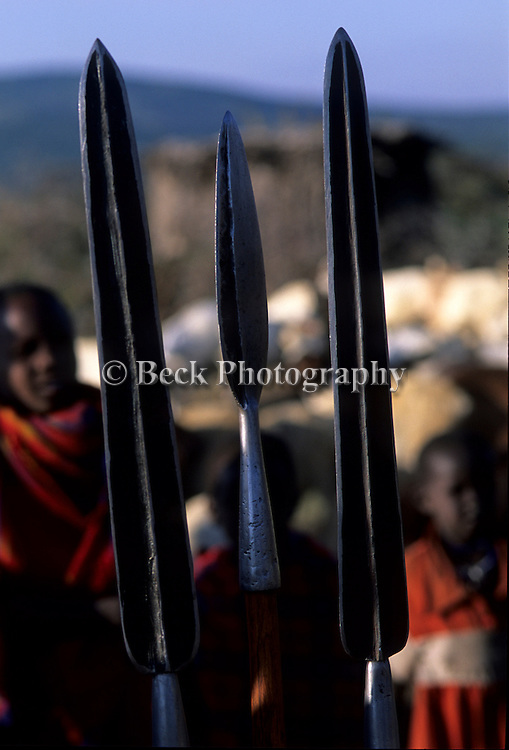 The tip of Maasai spears