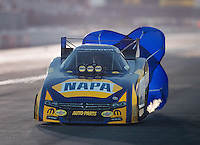 Nov 11, 2016; Pomona, CA, USA; NHRA funny car driver Ron Capps during qualifying for the Auto Club Finals at Auto Club Raceway at Pomona. Mandatory Credit: Mark J. Rebilas-USA TODAY Sports