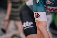 Adam Hansen (AUS/Lotto-Soudal) at the start of his 413th consecutive Grand Tour stage... a true 'captain of cycling'<br /> <br /> stage 14 San Vito al Tagliamento – Monte Zoncolan (186 km)<br /> 101th Giro d'Italia 2018