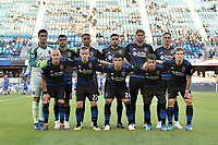 San Jose, CA - Wednesday June 13, 2018: San Jose Earthquakes Starting Eleven prior to a Major League Soccer (MLS) match between the San Jose Earthquakes and the New England Revolution at Avaya Stadium.