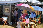 Art display at the Art in the Park festival in Keene, New Hampshire USA