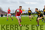 Niall Donohue, East Kerry in action against Fionn Fitzgerald, Dr Crokes  during the Kerry County Senior Club Football Championship Final match between East Kerry and Dr. Crokes at Austin Stack Park in Tralee, Kerry.