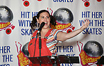 """Amy Toporek during the Special Musical Presentation for """"Hit Her WithThe Skates"""" at the Bowlmor Times Square on October 16, 2018 in New York City."""
