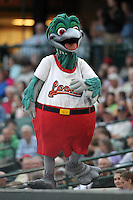 Great Lakes Loons mascot Lou E. Loon during a game vs. the Dayton Dragons at Dow Diamond in Midland, Michigan August 19, 2010.   Great Lakes defeated Dayton 1-0.  Photo By Mike Janes/Four Seam Images
