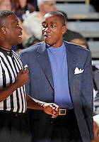 Florida International University Head Coach Isiah Thomas during the game against Western Kentucky University, which won the game 61-51 on January 28, 2012 at Miami, Florida. .