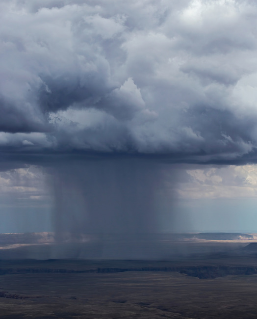 Monsoonal moisture has arrived during the hot summer at Marble Canyon at Grand Canyon National Park, Arizona