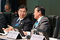 (L-R) Masato Mizuno, Taro Aso, MARCH 4, 2013 : General view before presentations of Tokyo 2020 bid Committee at Palace Hotel, Tokyo, Japan. (Photo by AFLO SPORT)