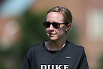 23 August 2015: Duke assistant coach Jane Alukonis. The Duke University Blue Devils played the Weber State University Wildcats at Fetzer Field in Chapel Hill, NC in a 2015 NCAA Division I Women's Soccer game. Duke won the game 4-0.