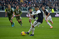 6th January 2020; Allianz Stadium, Turin, Italy; Serie A Football, Juventus versus Cagliari; Cristiano Ronaldo of Juventus scores the goal for 2-0 for Juventus from a penalty kick in the 67th minute - Editorial Use